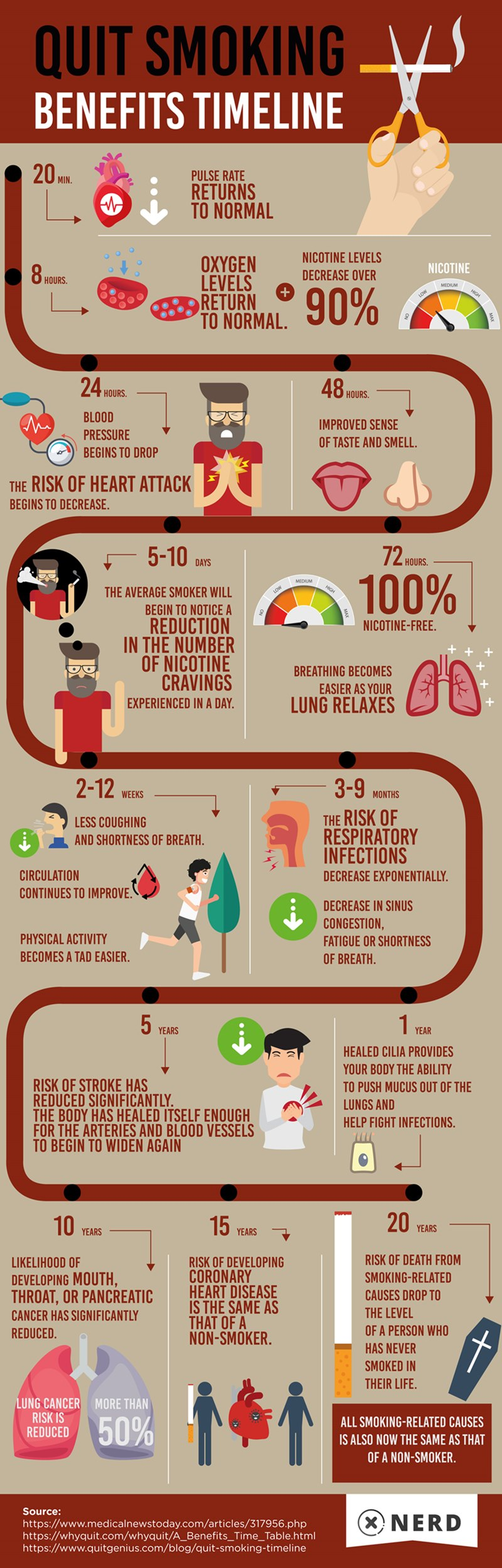 Quit Smoking Timeline Infographic (Quit with Nerd)