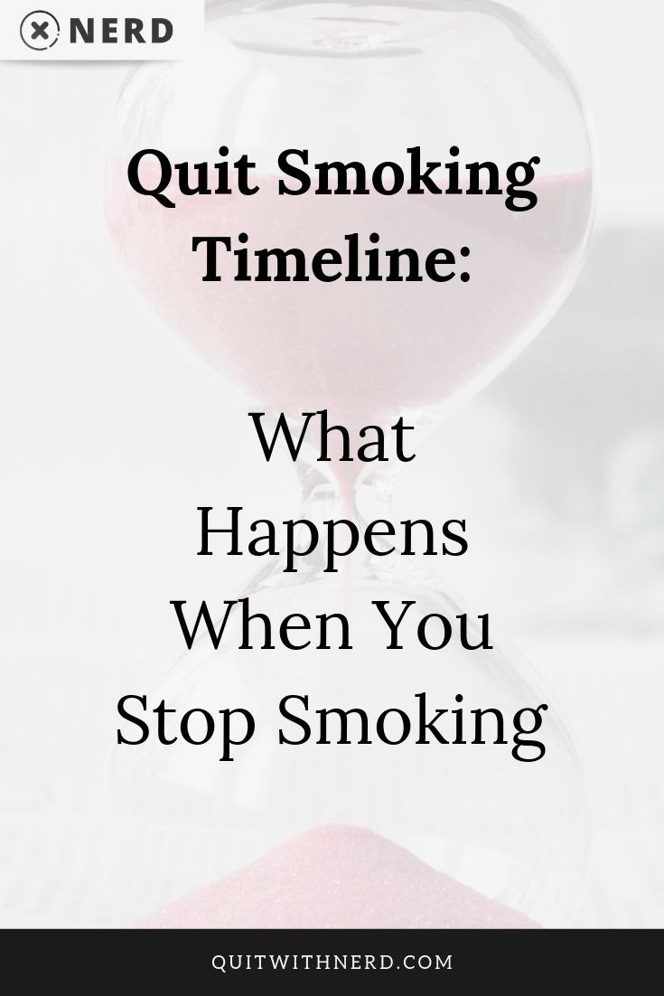 Quit Smoking Timeline - What Happens When You Stop Smoking (Quit With Nerd)