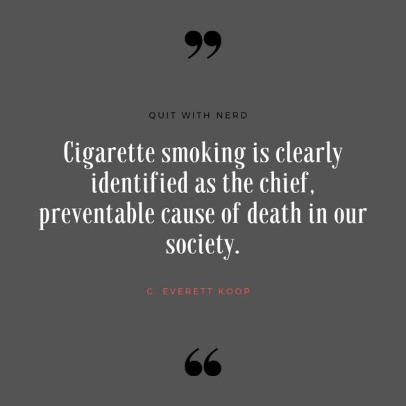 Cigarette smoking is clearly identified as the chief, preventable cause of death in our society.