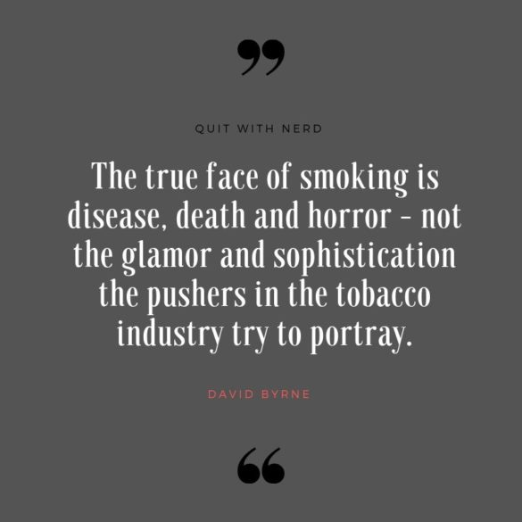 The true face of smoking is disease, death and horror - not the glamor and sophistication the pushers in the tobacco industry try to portray.